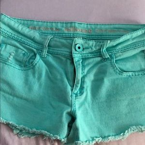Dollhouse Teal shorts with front and back pockets